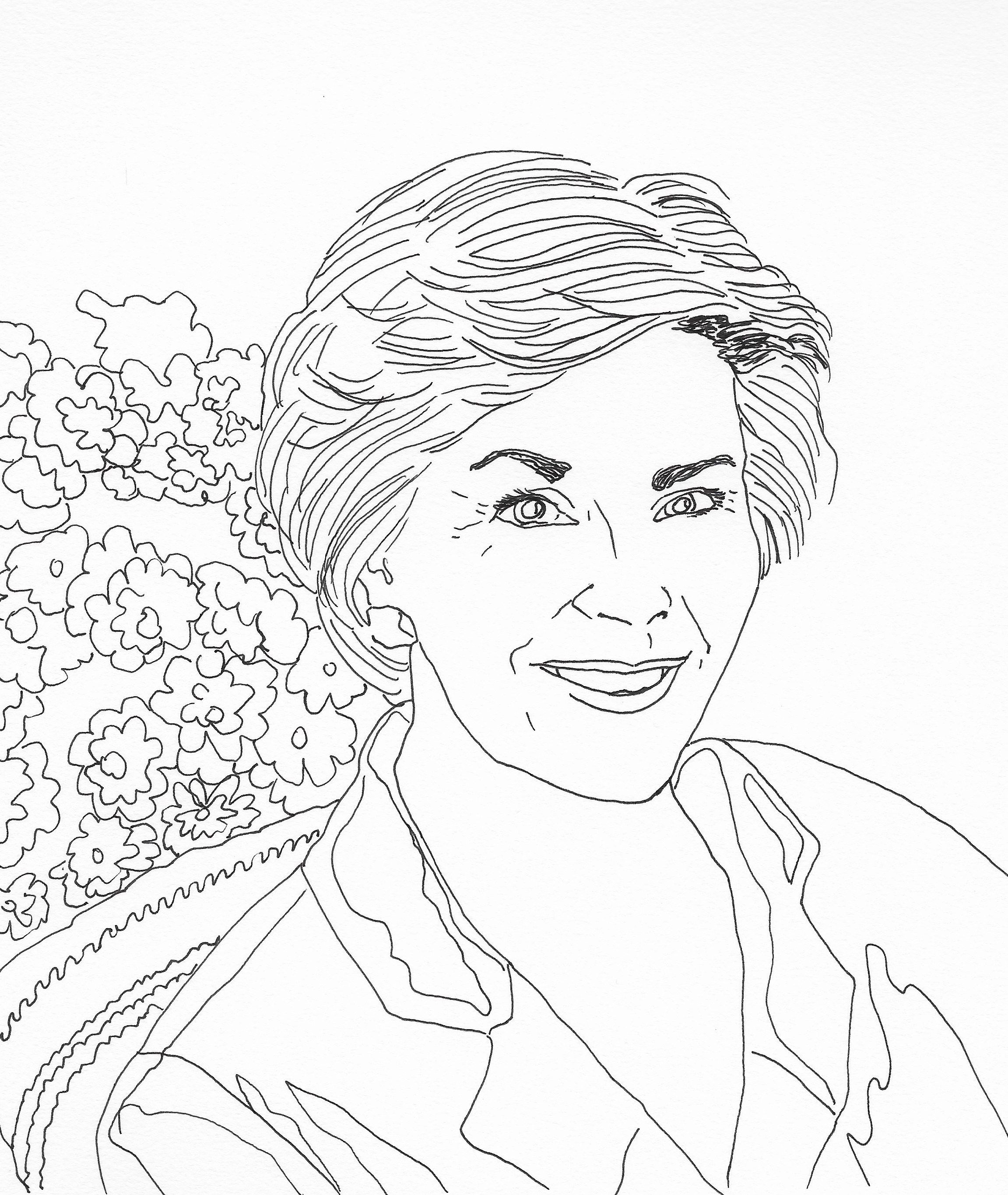 Laura lane welch bush first ladies sketches lady presidents