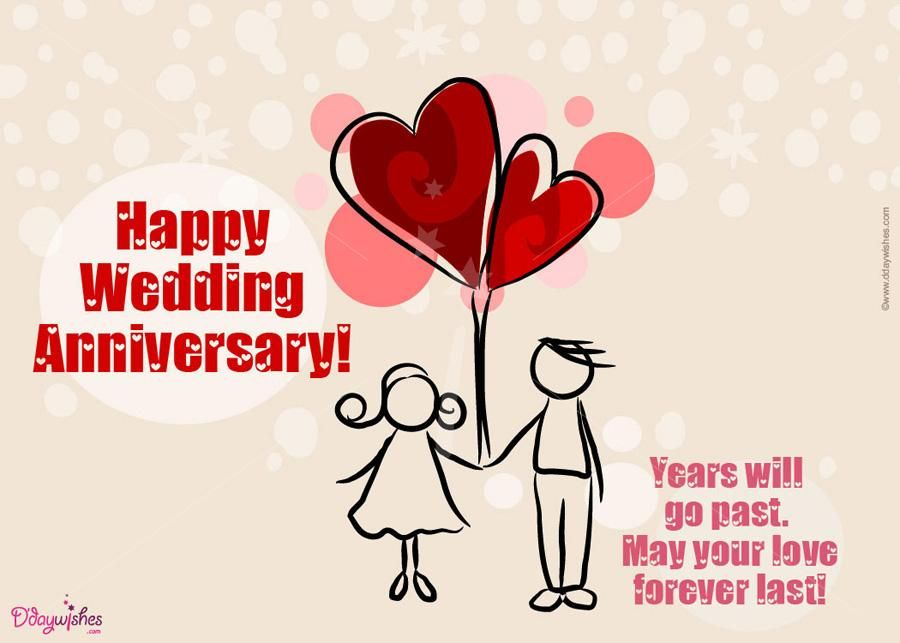 Get creative wedding anniversary e cards from ddaywishes