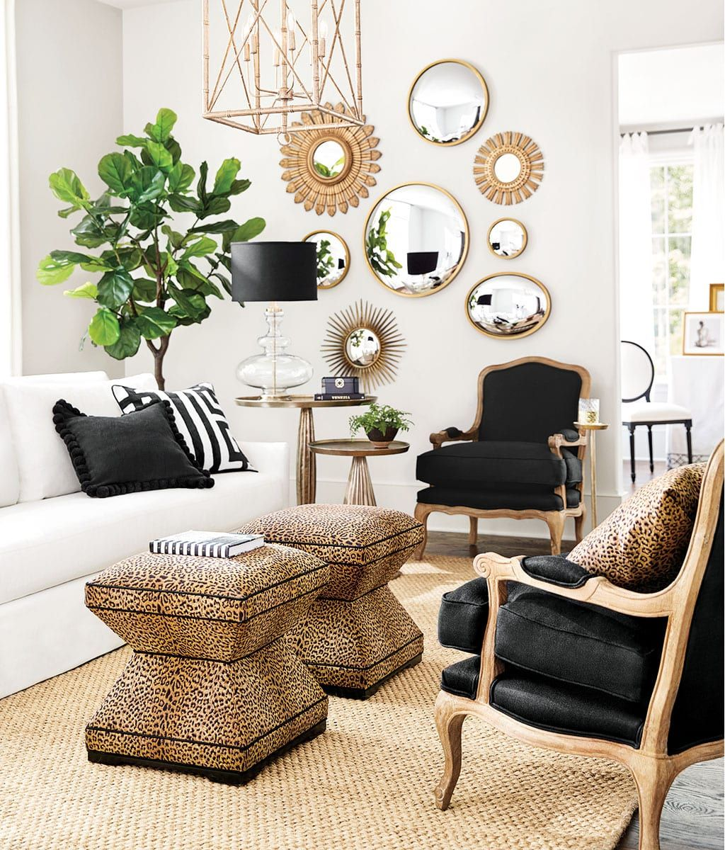 Holiday Color Trend Black White And Green Gold Living Room
