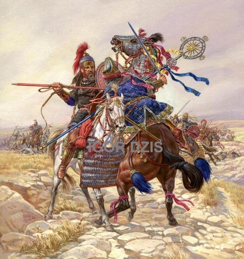 IGOR DZIS BATTLE PAINTING: The battle of Dara 506 AD ...