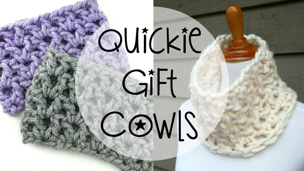 How To Crochet Quickie Gift Cowls, Episode 363 | bujandas<3 ...