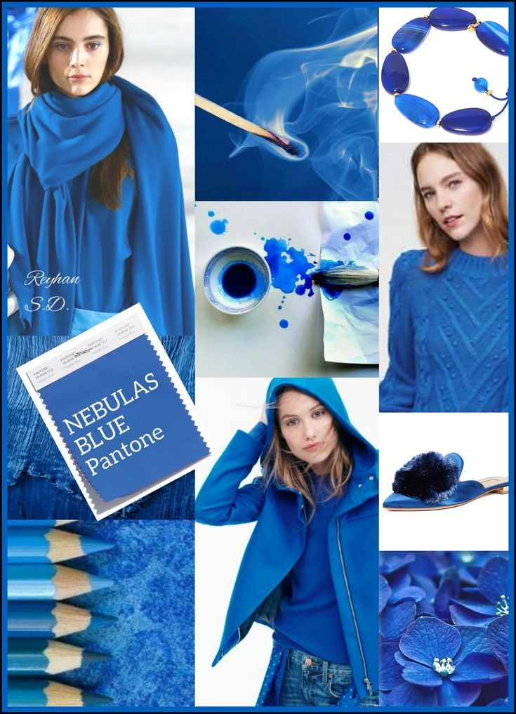 '' Nebulas Blue: Pantone Fall/ Winter 2018-2019 Color Trends '' by Reyhan S.D. #fall2019fashiontrends