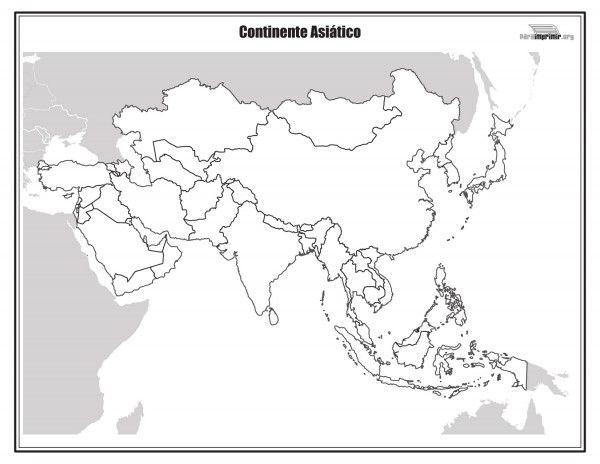 Dibujos de Mapas de Asia y Paises para colorear | Colorear imágenes ...