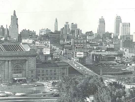 1950 S Skyline Kansas City Skyline Kansas City Downtown Kansas City Union Station