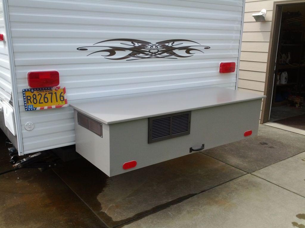 Very Nice Rear Storage Box For Generator Happy Camper