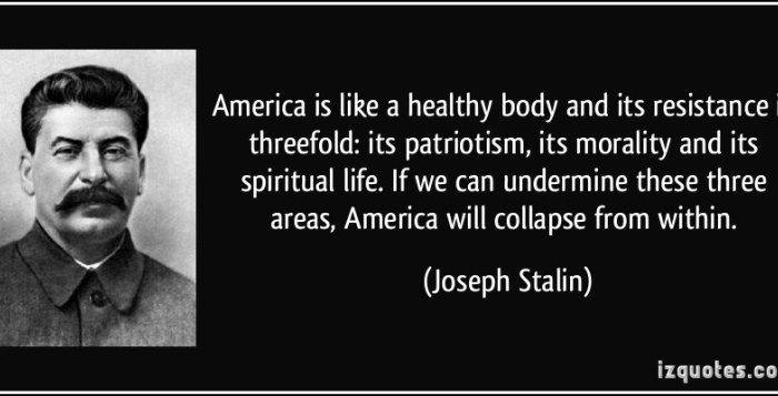 Obama Channels Stalin in Rose Garden Speech