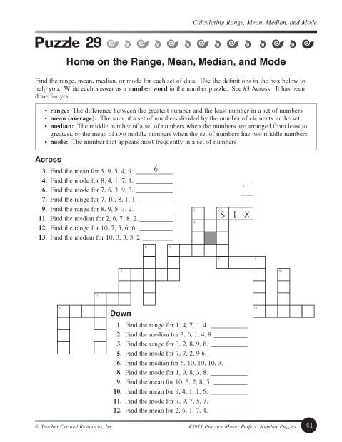 Printables Mean Mode Median Range Worksheet mean median mode range printable worksheets pichaglobal