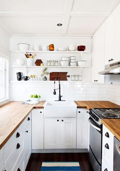 Baldas para cocinas pequeñas. Small & Lowcost. | Cocina pequeña ...