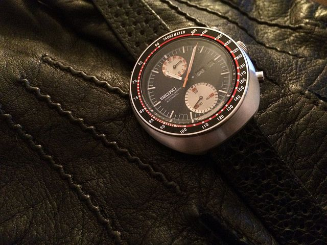 """My NOS Seiko 6138-0017 """"UFO"""" on Giuliano's Racing Strap IMG_0348 