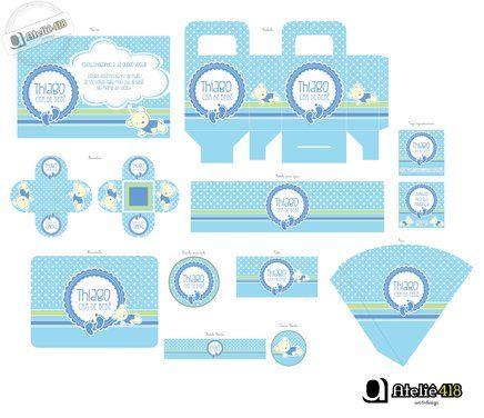 Kit personalizado Chá de bebê no Airu