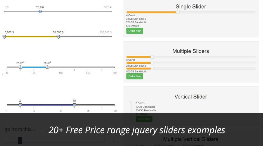 20 Free Price Range Jquery Slider Examples Jquery And Javascript