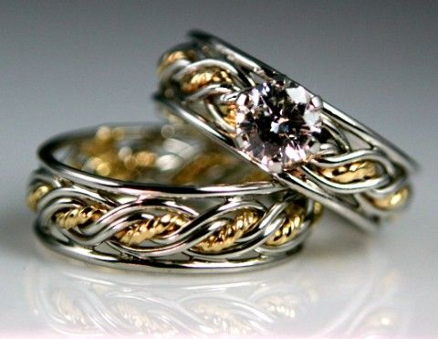 Platinum and 18K Gold Wedding and Engagement Rings