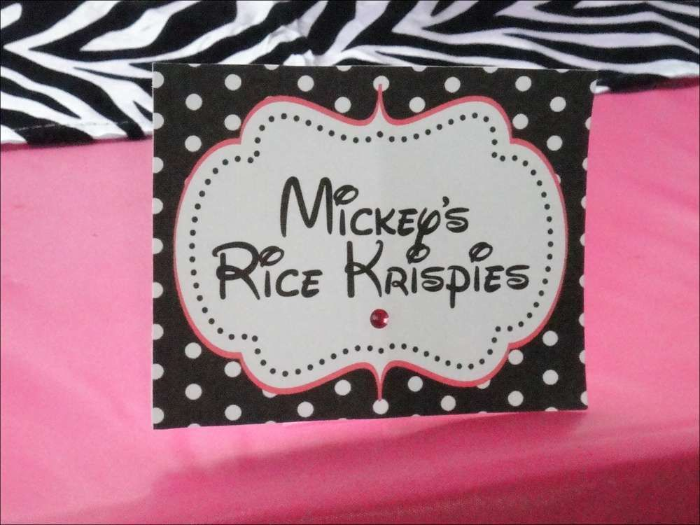 Minnie Mouse and Zebra Print Birthday Party Ideas Photo 1 of 24