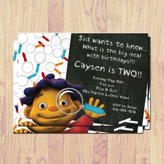 Sid The Science Kid Invitations Print At Home Diy On