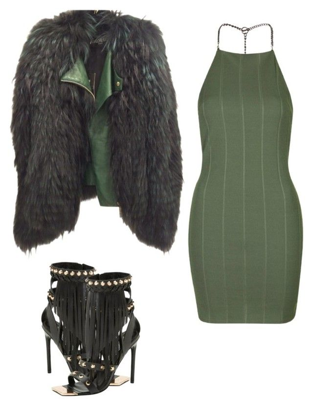 """""""Untitled #265"""" by jazz-mccall on Polyvore featuring Balmain, Topshop and Ivy Kirzhner"""