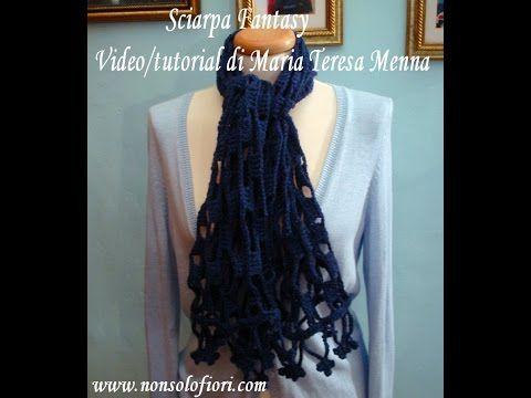 Sciarpa Fantasy Alluncinetto Crochet Scarf Youtube Gancho