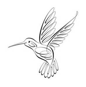 hummingbird clip art black
