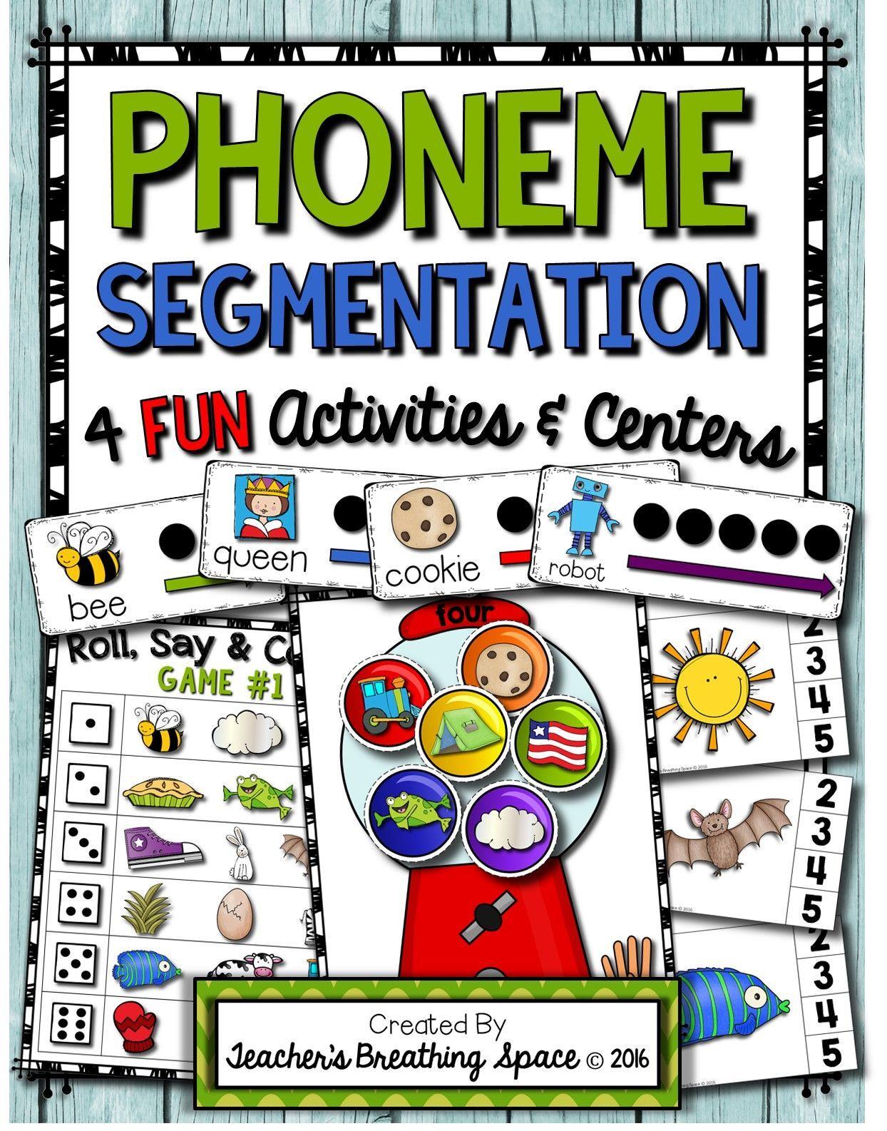 Phoneme Segmentation Sorting Clip Cards Segmenting