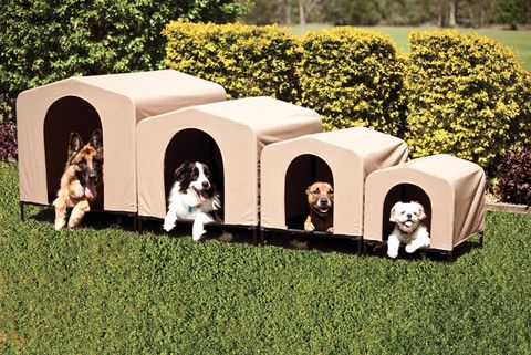 Houndhouse Portable Collapsable Pet Kennel Shelter Khaki My Dog