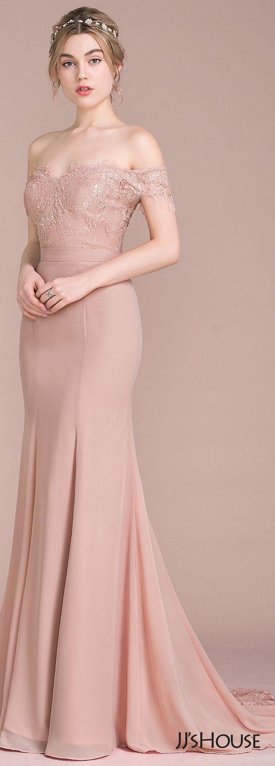 JJsHouse #Bridesmaid  Lace bridesmaid dresses, Prom dresses long