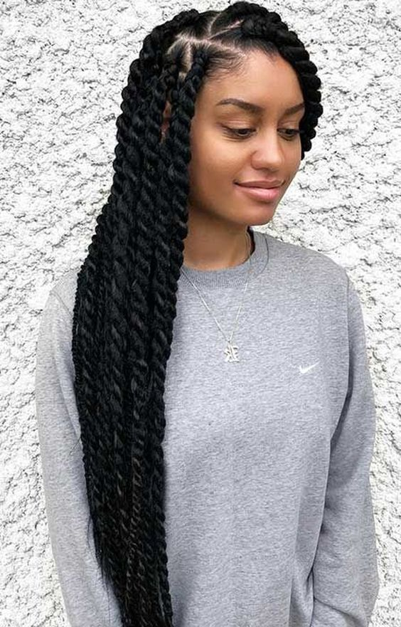 Thick Cornrows Hairstyles 25 Easy To Do Cornrow Braided Hairstyle To Try Out Correct Kid Marley Twist Hairstyles Twist Braid Hairstyles Twist Hairstyles