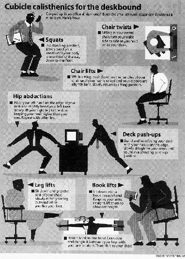 cubicle workouts | cubicle-exercises | running | Office ...