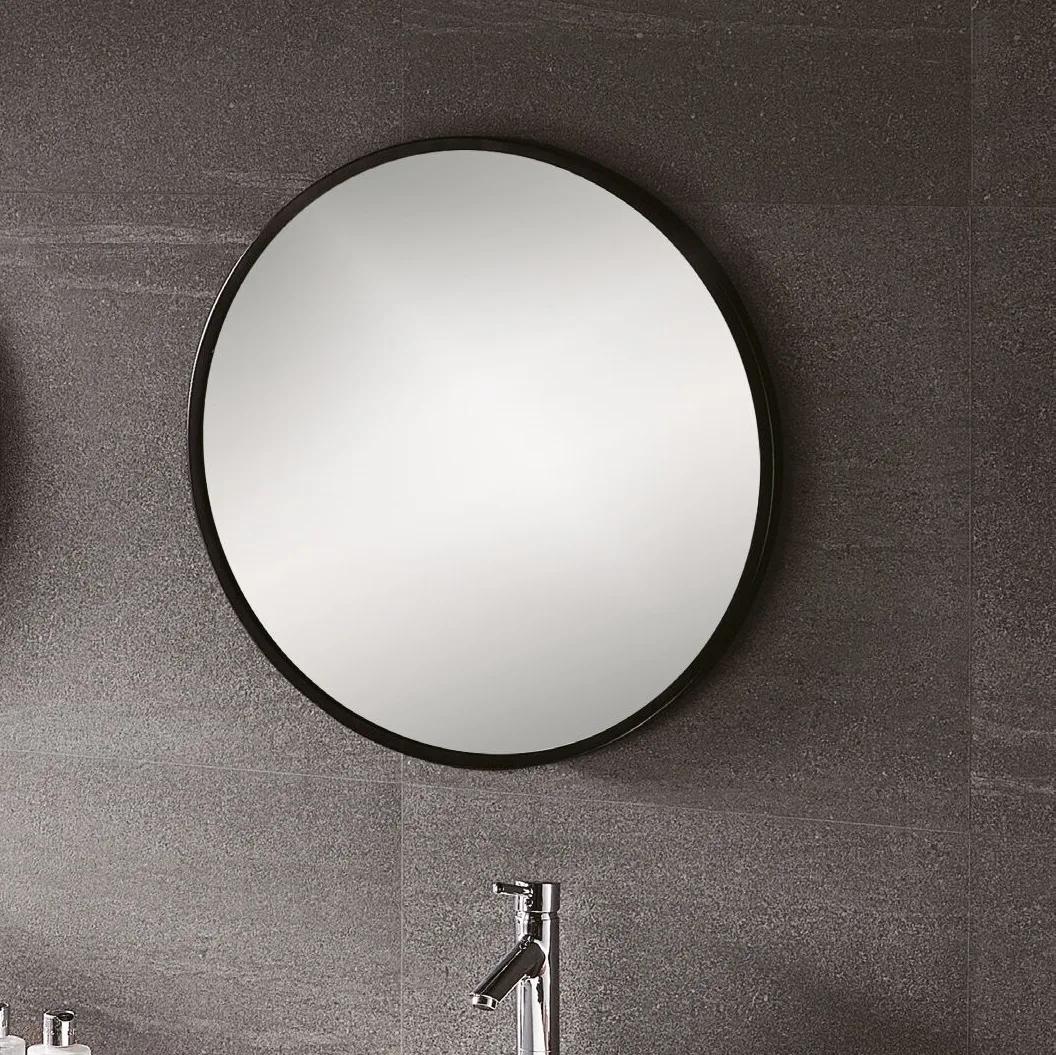 Vasari Black Round Mirror 600 X 600mm In 2020 Black Round Mirror Mirror Round Mirrors