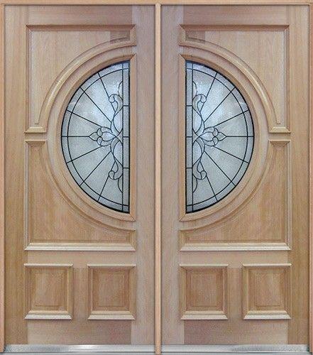 Half Circle Mahogany Wood Double Doors #A650: Double door special ...