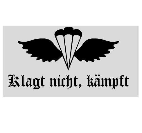 Aufkleber Fallschirmjäger Iii Klagt Nicht Kämpft Mehr