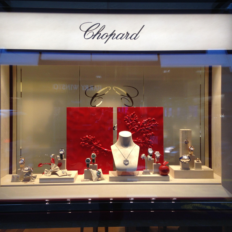 Valentine' Day Window Display Chopard Geneva Watches