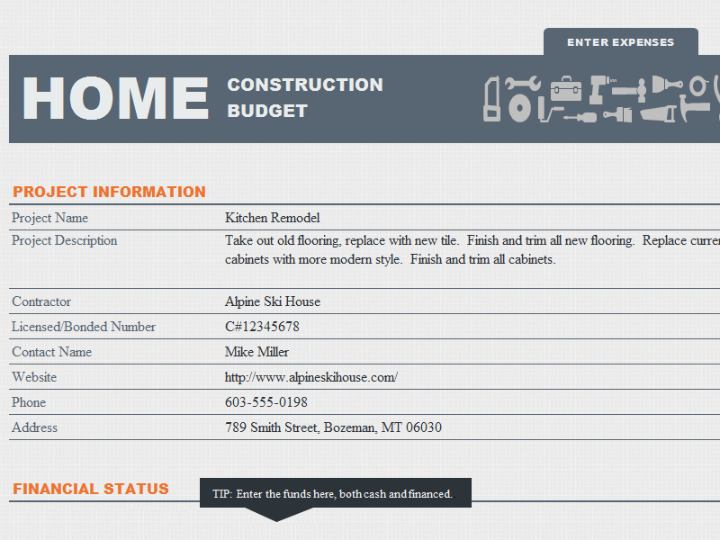 Home Construction Budget Template It Can Help You Plan Your