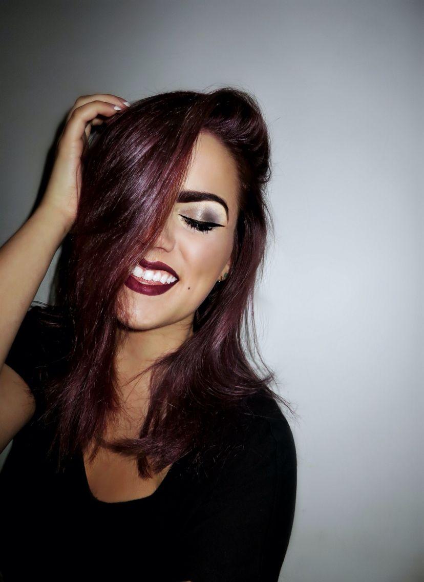 Couleur cheveu violet fonce