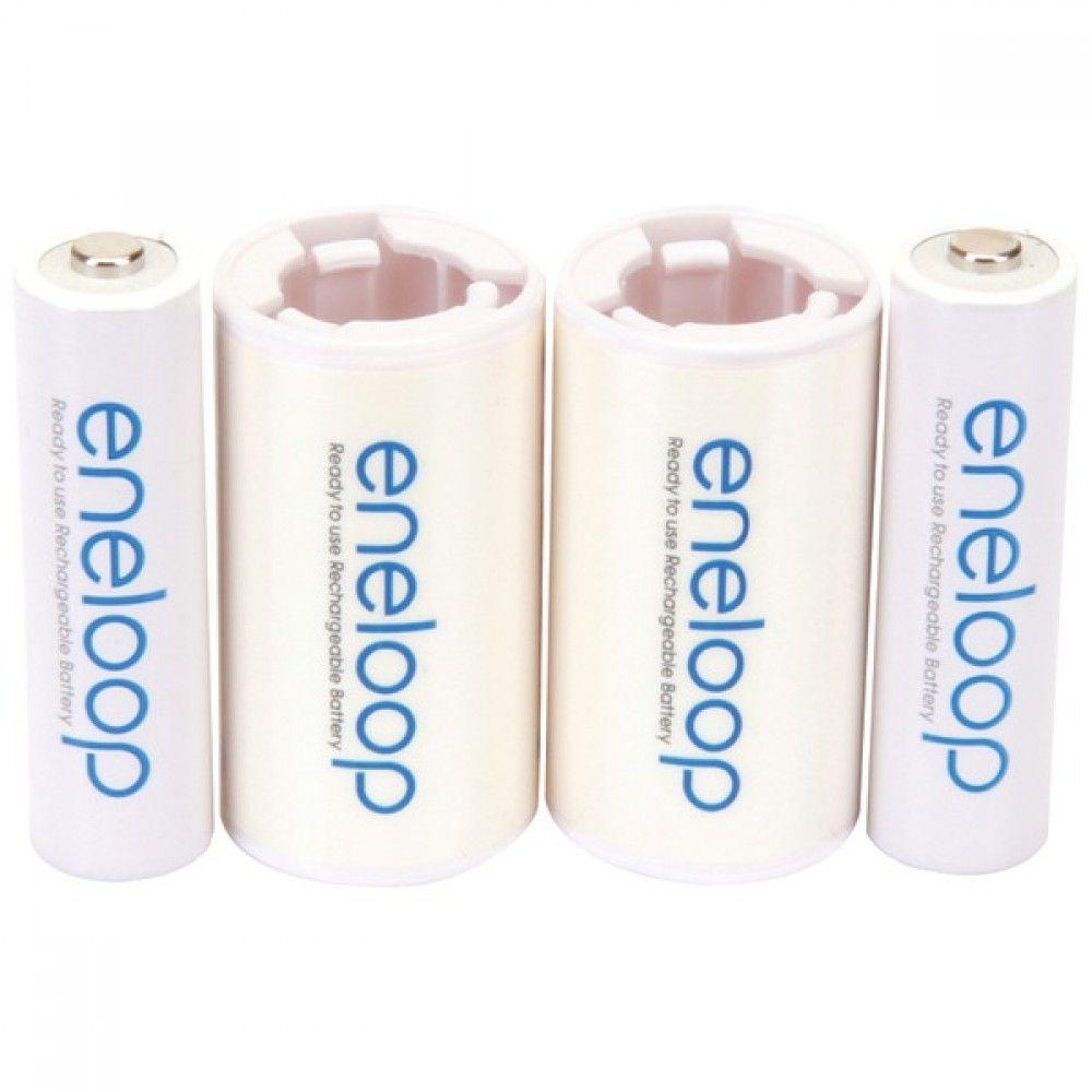 Panasonic K Kjs2mca2ba 2 Aa Eneloop R Batteries Amp 2 Spacers Kit C Size Rechargeable Batteries Kit Panasonic