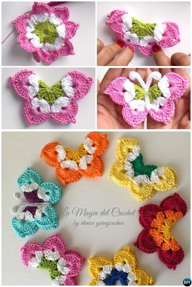 La Magia #Crochet Butterfly Free Pattern #crochet | Crochet ...