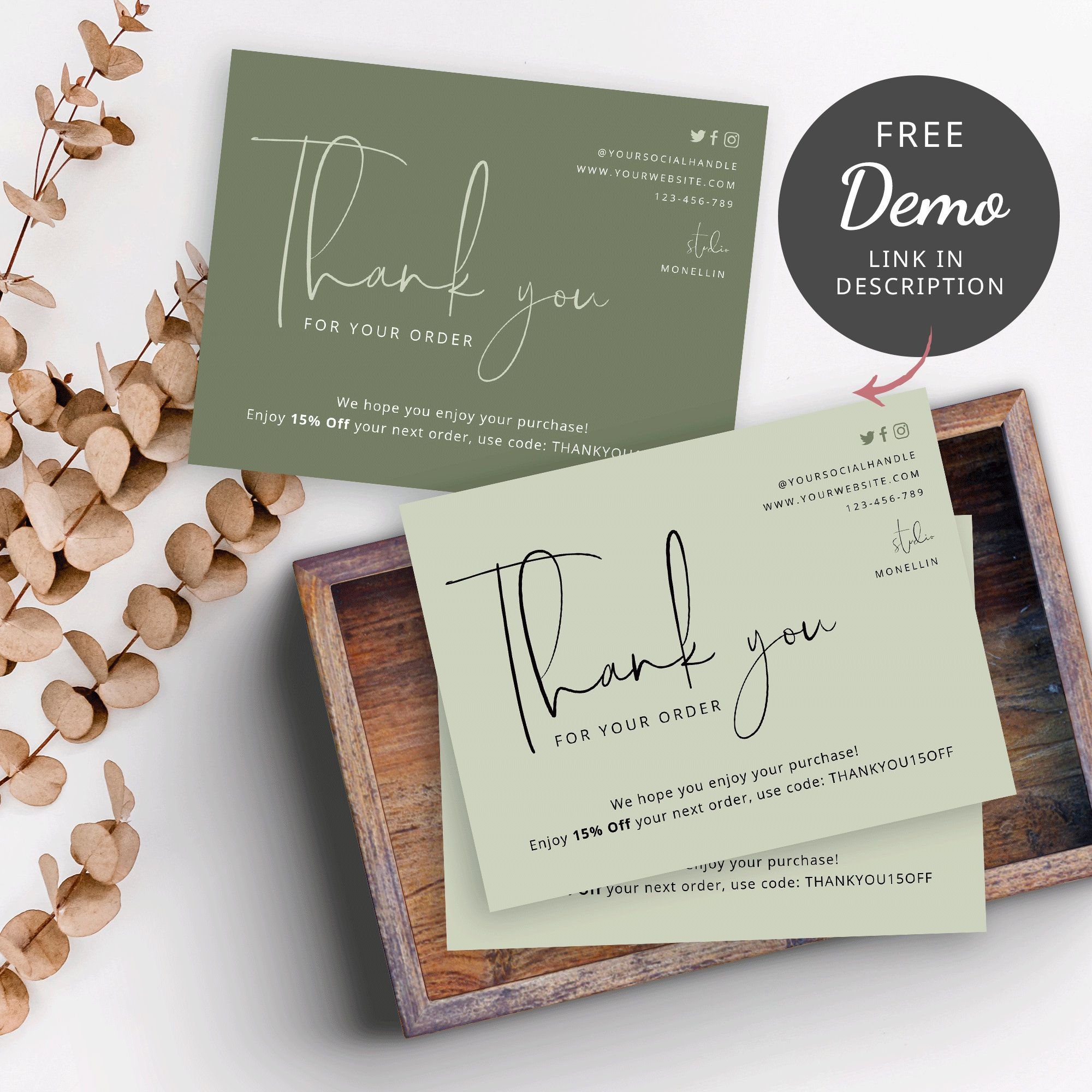 diy thank you for order cards thank you for purchase card
