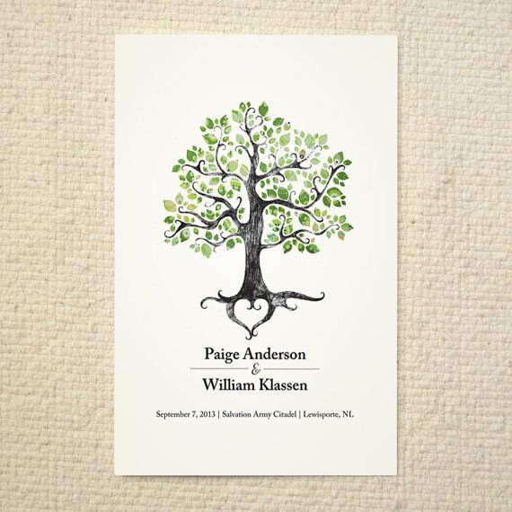 the summer solstice tree wedding ceremony program order of