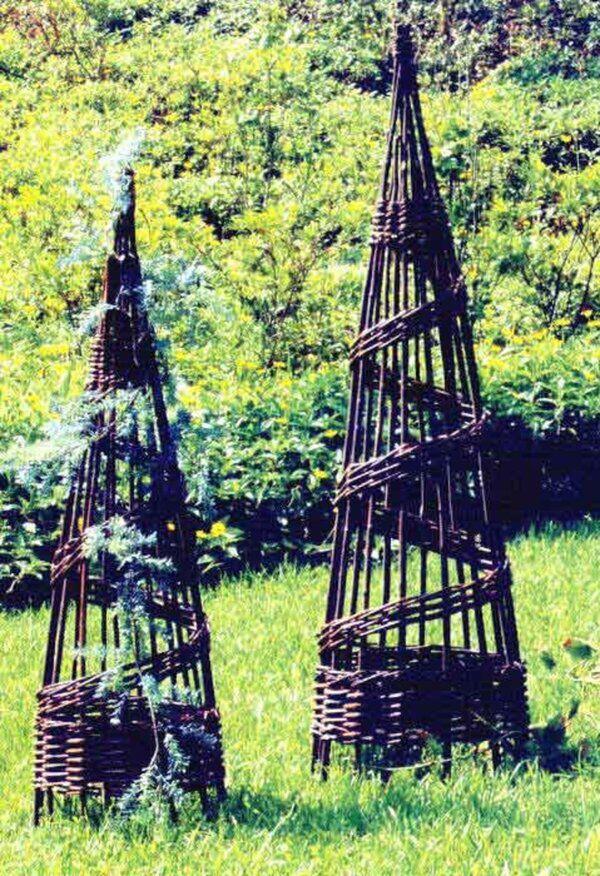Willow Foldable 3 Sided Wood Obelisk Trellis in 2020