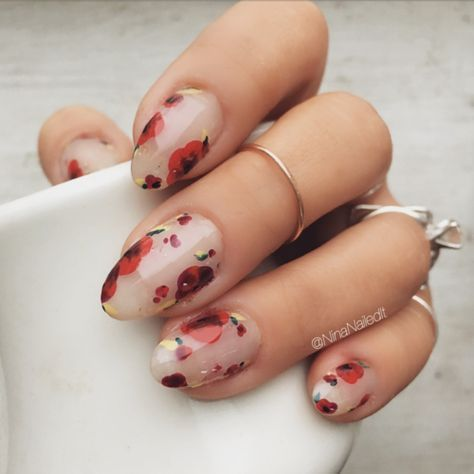 Nails Minimal Floral Flower Nails Floral Nails Cute Nails