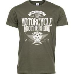 Photo of Gasoline Bandit T-Shirt Motorcycle Brotherhood grün Xxxllouis.de