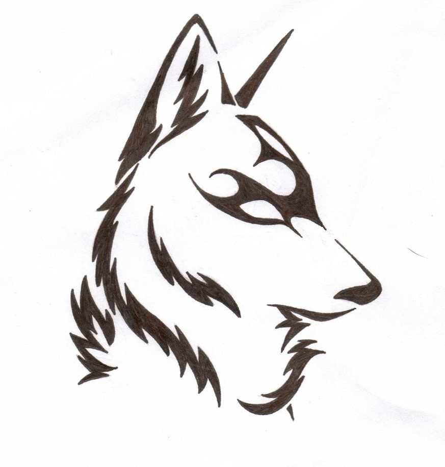 Line Art Wolf Tattoo: Wolf Line Drawing Images - Google Search