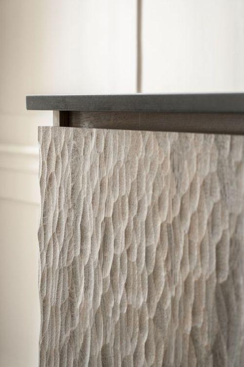 Solid oak handmade covering detail.