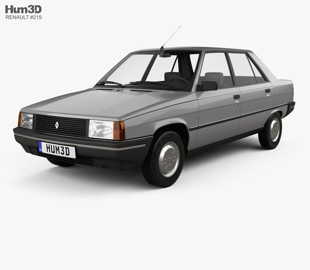 3d Model Of Renault 9 1983 Renault 9 Renault 3d Model