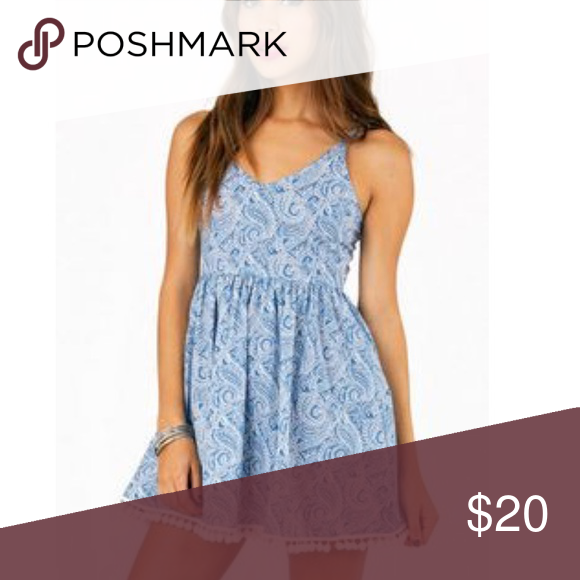 TOBI Paisley Dress Never worn cute paisley dress Tobi Dresses Mini