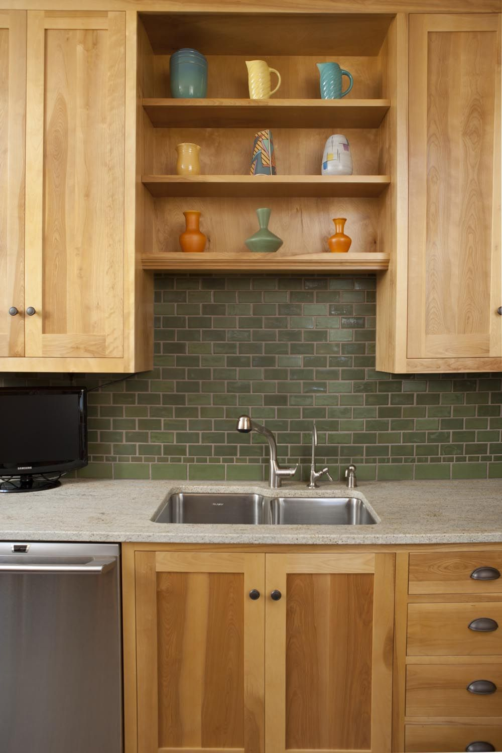 The Vermont Kitchen Backsplash Arts Crafts Tile By Clay Squared In 2020 Contemporary Kitchen Cabinets Traditional Kitchen Design Kitchen Cabinet Remodel