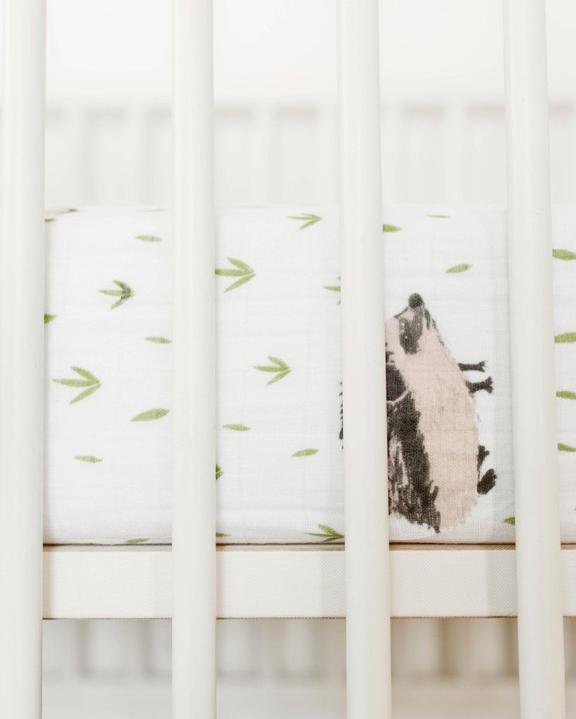 Little Unicorn Cotton Muslin Crib Skirt Berry /& Bloom
