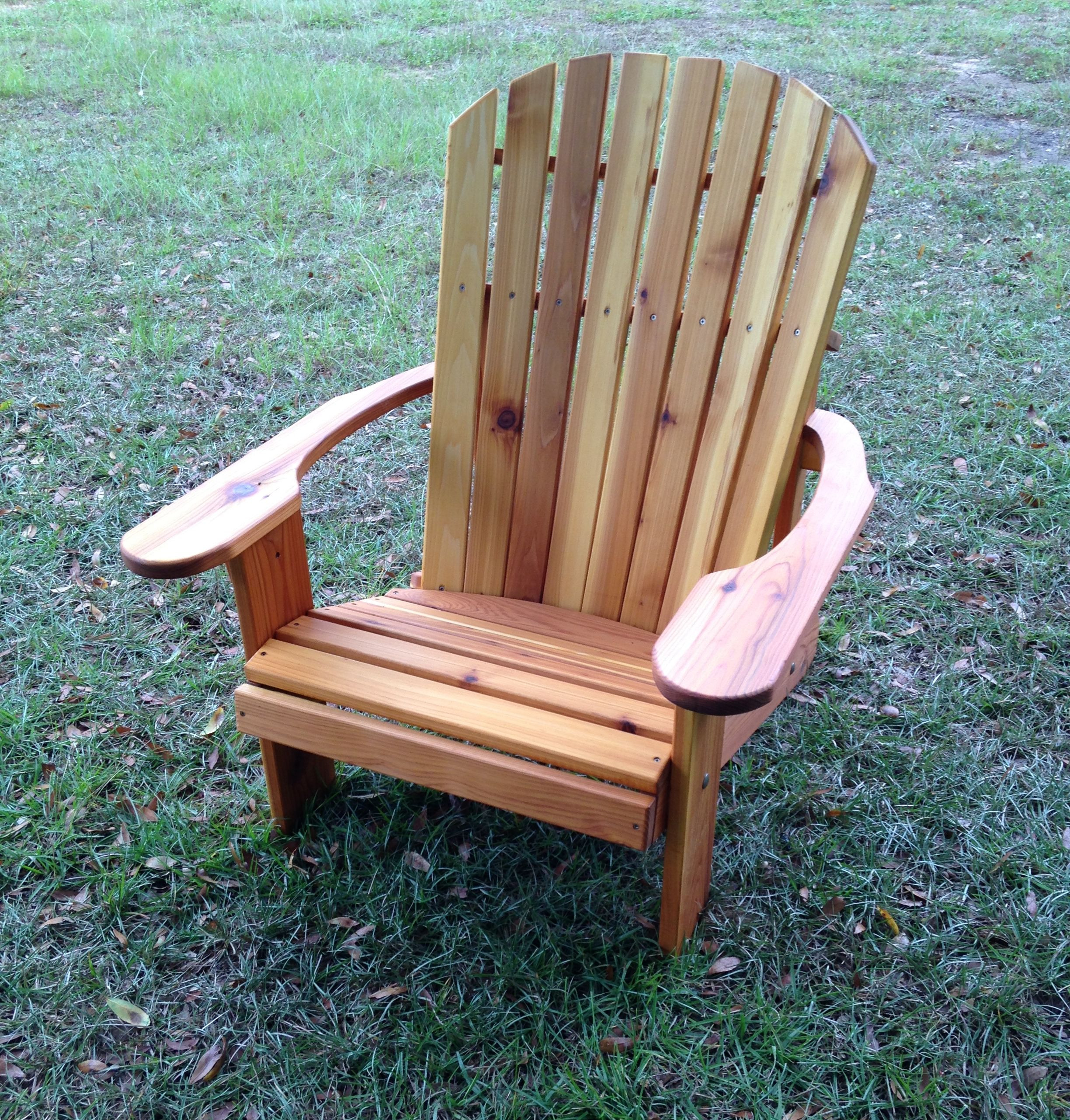 Oversize Adirondack Chair Stained With Pine Stain
