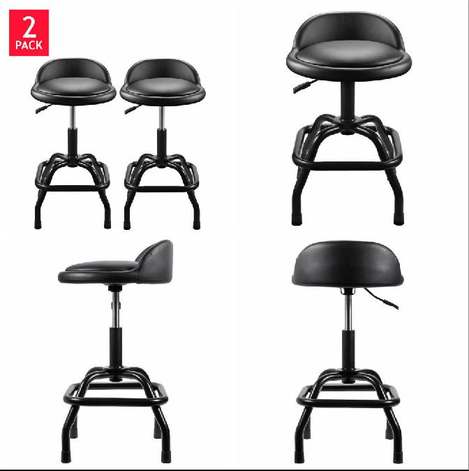 Adjustable Garage Stool Ultra Cushioned Pneumatic Shop Mechanic Seat Chair 2PACK  sc 1 st  Pinterest & Adjustable Garage Stool Ultra Cushioned Pneumatic Shop Mechanic ... islam-shia.org