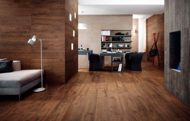 Pareti Rivestite Di Legno : Pavimento e pareti rivestiti in legno scuro living room