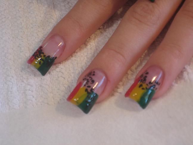 ❤ My Rasta/Jamaican Nails❤ | Nails | Pinterest | Jamaica nails ...