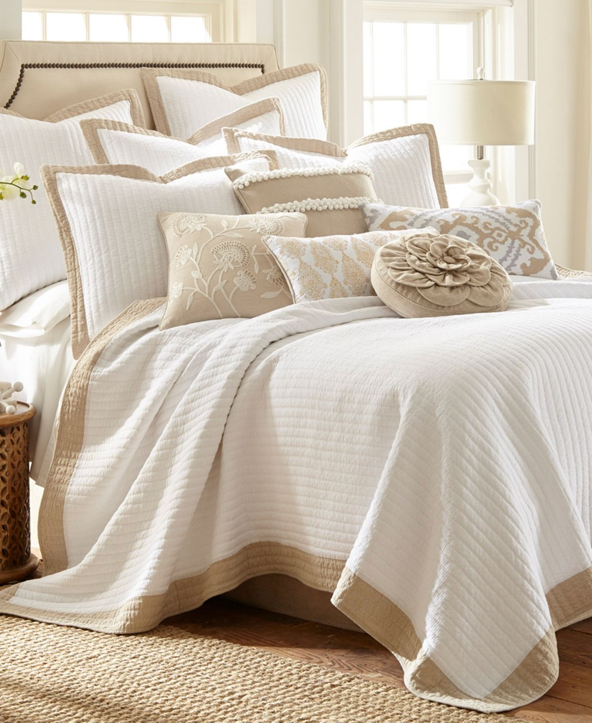 Rizzy Home Lyric Quilted Bedding Sham King Natural